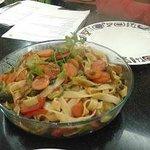 Final outcome , Macaroni with vegetable