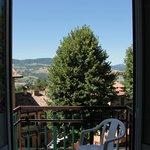 paesaggio dalla finestra della camera