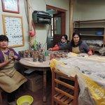 Hand Painting the ceramics