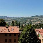 paesaggio dal balcone delle camere