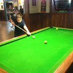 A game of pool with the tacker