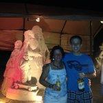 Sandskulpturen Okt.13 abnds / beleuchtet (Tip erwünscht)