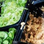 tuna mixed with salad
