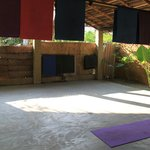 Yoga place with open nature environment.