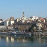 Вид на центр Белграда с Бранкова моста