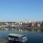 Вид на центр Белграда с другого берега Савы (Бранков мост)