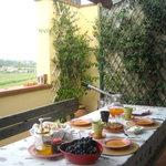 colazione in terrazzo