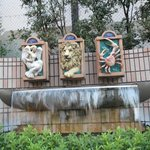 Zodiac fountains at the entrance to the hotel