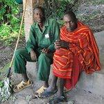 personale Masai del campo