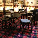 The WhiskyBar at the Mill Inn Coulter. Over 180 whiskies to choose from, most between £3 and £5.