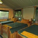 Tented lodge at Isoitok