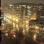 Night view from my room on the 11th floor, looking onto Pennsylvania Avenue - especially beautif