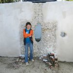 Fireplace n notice sea shells.  Hole in wall is for slaves guns while at war...interesting