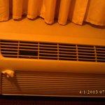A tampa do ar condicionado não fechava