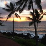 beautiful sunset from lanai