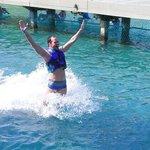 Foot push com os golfinhos! Faça reverva pela net, evita filas. E vá com o bolso preparado para