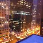 View from living room window of Michigan Avenue