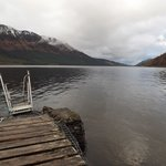 off the jetty on the Loch