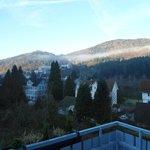 paysage vue du balcon de notre chambre