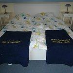 lits jumeaux de notre chambre
