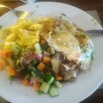 Real Beef fillet, Chips, veggies and an egg. The best I had in Dar