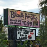 Famous breakfast sign