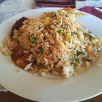 Mix Seafood fried rice Camaron Beach Club
