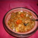 Tajine de thon aux légumes et parfums d'ici et douceur du miel