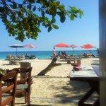 View from inside Camaron Beach Club