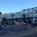 Kemah Boardwalk Inn and dancing fountains