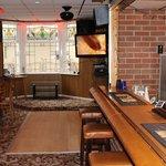 bar area and big scfeen tv