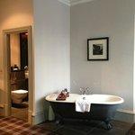 Junior Suite rolltop bath in room