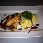 Corn fed chicken, parmesan cheese polenta and Madeira sauce