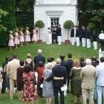 Ceremony in front of Summer House