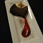 Flourless Chocolate Torte w/Sweet Cream & Berry Coulis