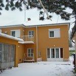 hostel in winter