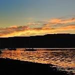 sunset in Oban bay