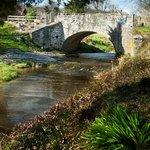The arched stone bridge