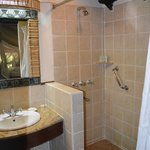 Great shower, large bathroom