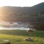 Riverview campsite at sunset