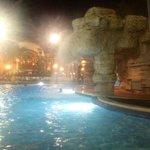 Big pool at night