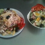Chef's salad & Yogurt Salad