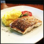 Sea perch fillet with mash,. lunch menu !