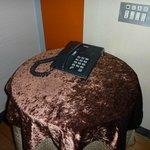 Mesa camilla de terciopelo
