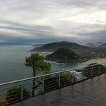View from the balcony up the coast past San Sebastian