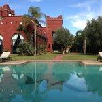 piscine vue du restau extérieur