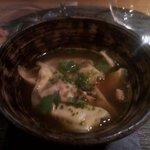 Zuppa di ravioli ripieni di fois gras