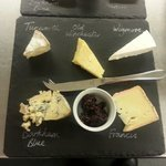Selection of 5 local cheeses with chutney and bread