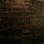 the blackboard, wine