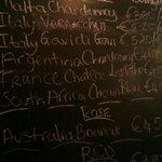 the blackboard, wine